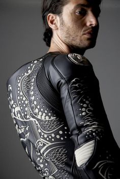 497741485fca4 Tattoo inspired motorcyle racing suit x Luca Ionesco for Dainese http   www.