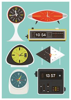 This is why I'm always late: every clock in my apt reads a little differently