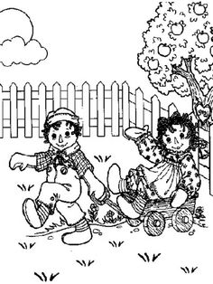 Raggedy Ann Coloring Pages raggedy ann andy coloring page