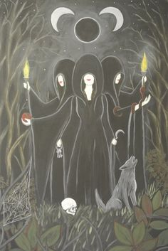 My painting of the Witch Goddess, Hekate, available now at Deviantart.com