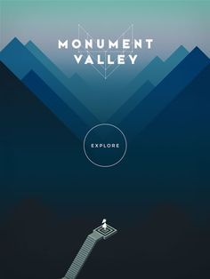 Monument Valley, a forthcoming iPad title from London design studio, ustwo, which uses the perception-bending drawings of Dutch graphic artist MC Escher as its conceptual jumping off point. Web Design, Game Design, Design Art, Cover Design, Design Elements, Monument Valley Game, Game Interface, 2 Logo, Creative Review