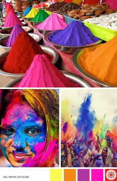 One of the purposes of Holi is to celebrate the beginning of the spring. Hindus believe its just the perfect time to enjoy and celebrate with the colors of nature. Holi, Festival Of Colors | via Live Colourful #MyMoteef #India