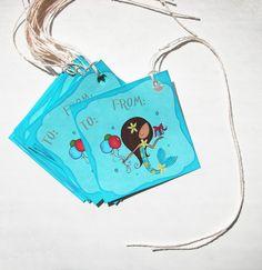 Mermaid gift tags for birthdays!