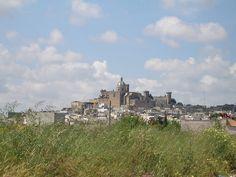 Panorama of Oria, Italy