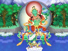 Green Tara represents the energetic aspect of compassion and is the national goddess of Tibet.