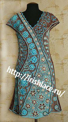 Stunning freeform crochet lace dress.