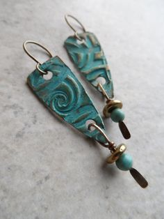 A Story Told ... Bronze Metal Clay and Turquoise by juliethelen