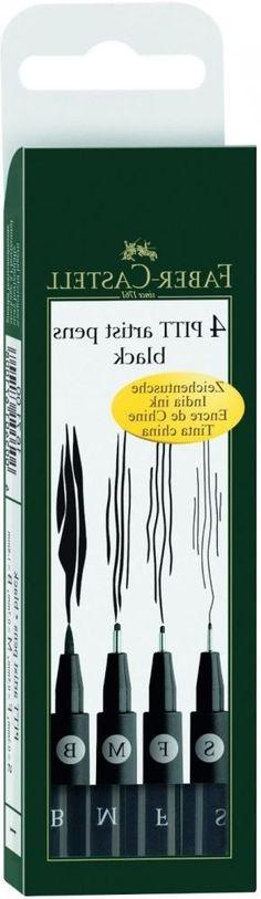 Набор капиллярных ручек Faber-Castell Pitt Artist Pen 4 шт черный 0.3 мм 167100