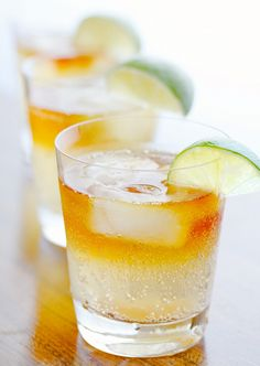 The Dark 'n' Stormy- see how the receipt calls for Goslings....Nothing else will do. it is not a dark n stormy if it is not Gosling