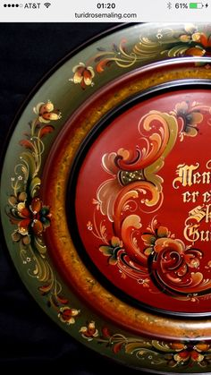 Norwegian Rosemaling...I have a relative that does this beautiful intricate painting at the Host Fest in Minot, ND
