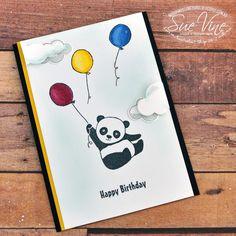 Sue Vine | MissPinksCraftSpot | Stampin' Up!®️️ Australia Order Online 24/7 |Party Pandas | Stampin Blends | Up and Away | Lift me Up | #partypandas #stampinblends #upandaway #liftmeup #handmadecard #rubberstamp #stampinup