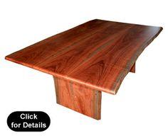 """Bentley""Natural Edge Jarrah Dining Table"