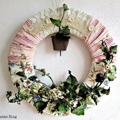 A Morning Cup of Joe /// Linky Party with Features - The Cottage Market Faux Flowers, Colorful Flowers, Picture Frame Wreath, Flowery Branch, Summer Wreath, Spring Wreaths, Christmas Wreaths, Floral Wreath, Diy Projects