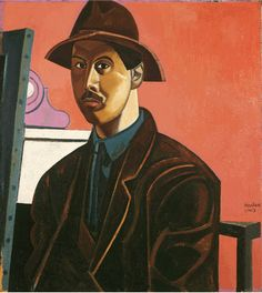 Wyndham Lewis ~ Portrait of the Artist as the Painter Raphael (self-portrait), 1921