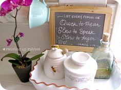 Raising up Rubies: the chalkboard with verse is a super idea for the kitchen, and I like the verse she chose too