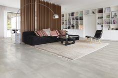 Een Santana Authentic Beton-vloer geeft elk interieur een industriële maar verfijnde aanblik. #kurk #beton #vloer