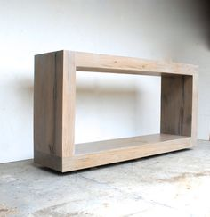 The Salvaged Oak Collection Console Table by RAKAMod on Etsy