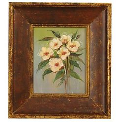 Image detail for -painted Antique Florals I oil painting | Antique Wall Arts | Antique ...