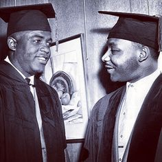 Jackie Robinson & Dr Martin Luther King both received honorary doctorates from Howard University in June of 1957 - Takayama Terrell- Civil Rights Leaders, Civil Rights Movement, Martin Luther King, Dr Martins, Howard University, Jackie Robinson, African Diaspora, King Jr, Before Us