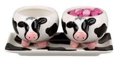 Boston Warehouse Udderly Cows Serving Set of 3 Cow Kitchen Decor, Cow Decor, Kitchen Stuff, Kitchen Dining, Cow Creamer, Serving Bowl Set, Cow Art, Cute Cows, Seasonal Decor