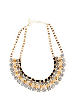 Rainbow Shops Faceted Stone Bib Necklace $5.24