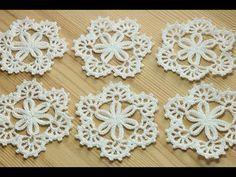 NotikaLand crochet and knitting Diy Crochet Flowers Tutorial, Crochet Snowflake Pattern, Crochet Motif Patterns, Crochet Snowflakes, Crochet Designs, Crochet Tablecloth, Crochet Doilies, Irish Crochet, Easy Crochet