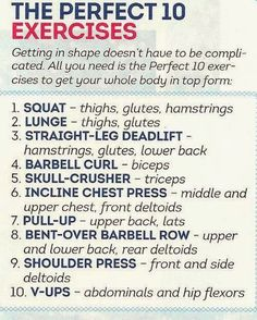 The Perfect 10 Exercises