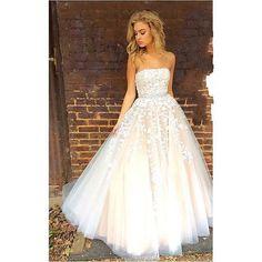 Elegant Prom Dress,Tulle Prom Dress,Long Prom Dress,Strapless Prom