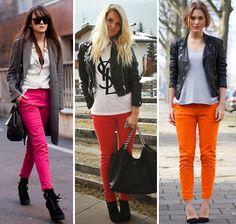 Calça colorida,adoro!