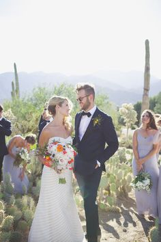 A cactus-filled wedding at Palm Springs' Smoke Tree Ranch — Claire Eliza Destination Wedding Photographer Spring Wedding, Wedding Day, San Jacinto Mountains, Wedding Veils, Wedding Dresses, Smoke Tree, Eclectic Wedding, Bridal Makeup, Palm Springs