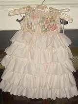 Custom Flower Girls Pillowcase Dress Ivory Shabby Chic Wedding ...