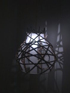 "Cardboard lamp ""From Strips"" / Tektorowa lampa z ""Pasków"",design, home, Cardboard furniture, meble z tektury, eko, ekologiczne,"