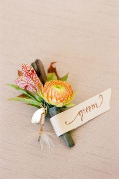 gorgeous fall boutonniere   Jen Fariello #wedding