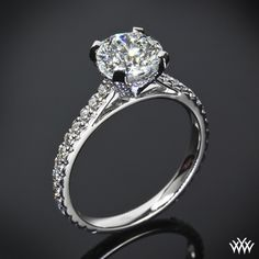"""#Whiteflash #Verragio From the Greek word meaning """"Splendor of the Sun"""" we introduce the gorgeous """"Elena"""" Diamond Engagement Ring.  Adorned with approximately 56"""