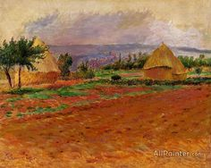 Pierre Auguste Renoir Field And Haystacks oil painting reproductions for sale