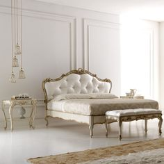 Luxurious Rococo Italian Button Upholstered Bed at Juliettes Interiors, a large collection of Classical Furniture. Classic Bedroom Furniture, French Furniture, Luxury Furniture, Home Furniture, Furniture Design, Furniture Buyers, Luxury Bedroom Design, Bedroom Bed Design, Home Bedroom