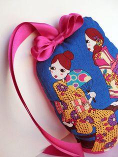 Geisha doll Kimono japanese geisha handbag by japanmomijidesigns