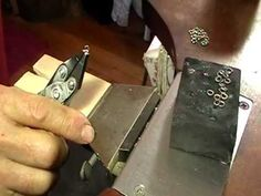 Amazing curb chain tutorial (kind of chain that my necklace uses). Notice his use of drill!