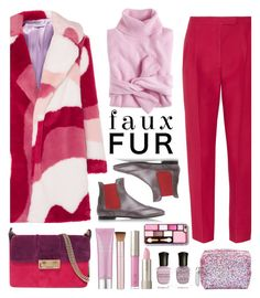 """250. Pink Winter"" by milva-bg ❤ liked on Polyvore featuring VIVETTA, J.Crew, Valentino, Attilio Giusti Leombruni, Lanvin, Mally, Ilia and Deborah Lippmann"