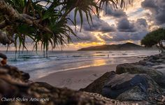 Dawn by Cheryl Styles on Beautiful Lights, Beautiful Pictures, Byron Bay, Weekend Getaways, Landscape Art, Beautiful World, Past, Surfing, Scenery