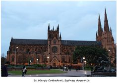 St Mary's Cathedral is one of the prominent landmarks and tourist attractions in Sydney. Sydney Australia, Tour Guide, Barcelona Cathedral, Venus, Dream Wedding, Religion, Tours, Spaces, Weddings