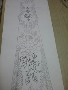 This Pin was discovered by azb Border Embroidery Designs, Hand Work Embroidery, Beaded Embroidery, Embroidery Patterns, Pattern Paper, Pattern Art, Pattern Design, Floral Motif, Beading Patterns