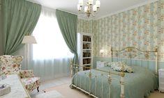 Квартира в стиле Прованс для женщины средних лет. Спальня