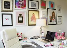 Workspace Chic with Office Depot/See Jane Work: Ali's Picks! Love the mix n match photo frames! Gonna do this somehow!