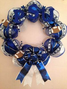 Penn State Wreath I made