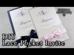 How to make your own lace pocket wedding invitations | Easy DIY invitation - YouTube