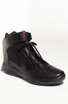 Prada 'America's Cup' High Top Sneaker (Men) available at Me Too Shoes, Men's Shoes, Shoe Boots, Dress Shoes, Shoes Sneakers, Reebok, Italian Sneakers, Prada Men, Prada Shoes Men
