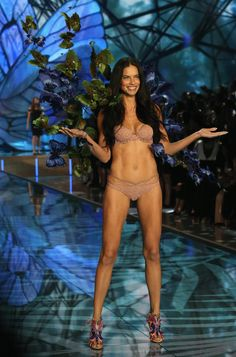 Adriana Lima looking quite casj in her knickers at the Victoria's Secret 2015…