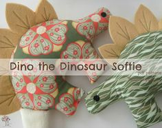 Dino the Dinosaur Pattern -INSTANT Download PDF File  with Bonus Applique on Etsy, $7.41 AUD