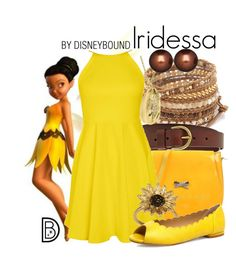 """Iridessa"" by leslieakay ❤ liked on Polyvore featuring Chan Luu, FOSSIL, Richmond, Evans, Honora, disney, disneybound and disneycharacter"